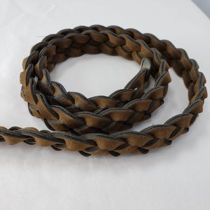 Women's Brown Woven Belt 35 in
